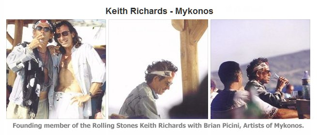 Keith Richards, Mykonos